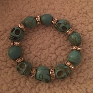 Other - Extra small turquoise skull bracelet