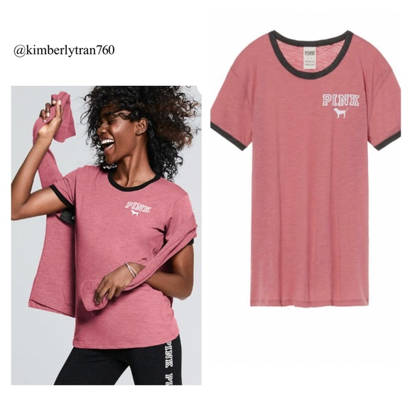 Victoria's Secret Pink Ringer Tee NWT