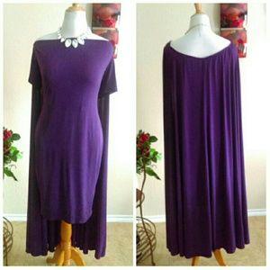 Boutique Dresses - HP ⬇💋Off Shoulder Midi Cape Dress Plus Size