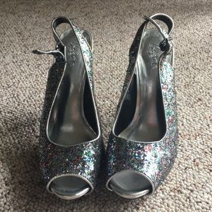 City Streets Shoes - City Streets Glitter Heels