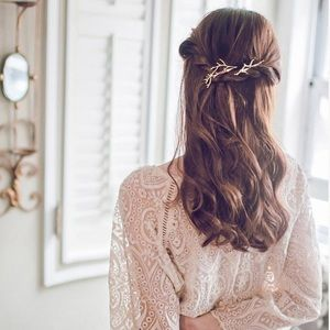 LAST 1 💎 Branch hair pins gold bridal hairclip