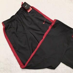 Nike Dri-Fit Gym Pants Dark Gray & Red