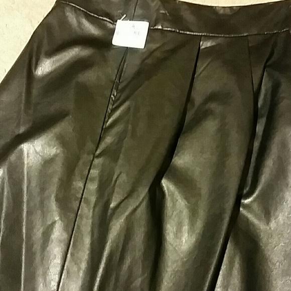 80% off Worthington Dresses & Skirts - Woman Flauxu Leather Skirt ...
