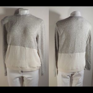 Yoon Sweaters - NOOY BY YOON Off White Gray Colorblock Sweater SzL