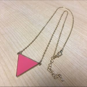 Shop Jeen Jewelry - Shop Jeen Pink Triangle Necklace