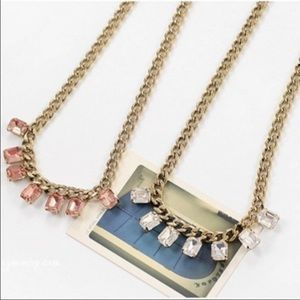 Collar necklace pink gold vintage style new bling