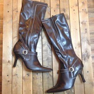 Merona knee high brown boots