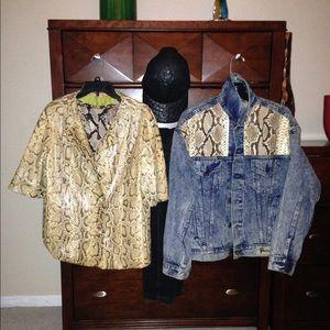 Jackets & Blazers - Genuine Python Skin 🐍 & denim jacket