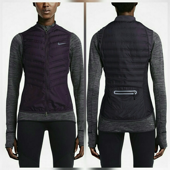 53% off Nike Jackets & Blazers - Nike Aeroloft Purple Down Running ...
