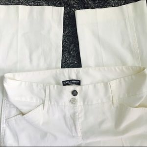 Dolce and Gabbana white dress pants