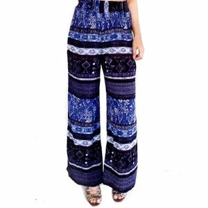 Urban outfitters ecote blue print palazzo pants