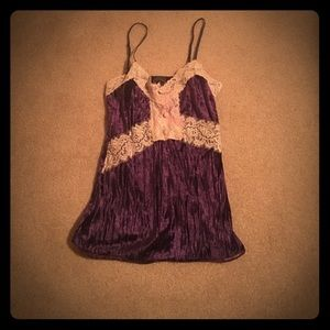 Tops - Velvet tank with lace