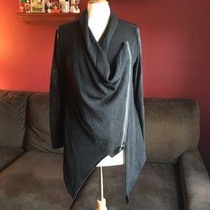 Miilla Clothing Jackets & Blazers - Miilla Black Asymmetrical Zip Jacket