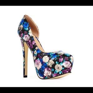 Shoes - Floral heels