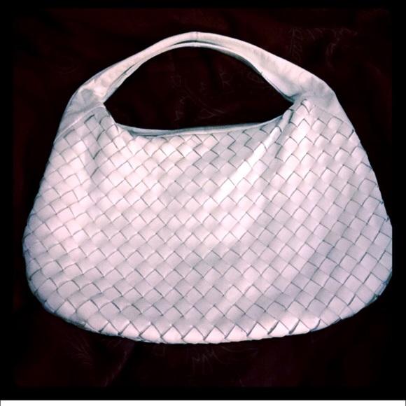 Bottega Veneta Handbags - Italian Woven Leather Hobo Bag Falor Bottega a565428e70fa9