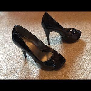 Wild Pair Shoes - Wild Pair Black Heels sz. 6.5 M. Heel ht 4.5 in.
