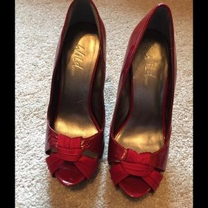 Wild Pair Shoes - Wild Pair Red Heels leather sz. 7 M