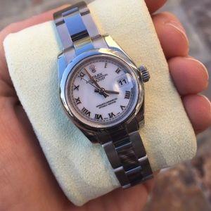 Rolex Accessories - Ladies Rolex Datejust 179160 Stainless White Watch