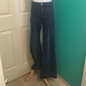 H&M 70's High-Waisted Wide Leg Jeans