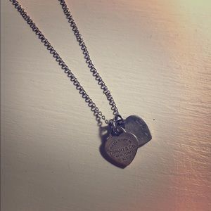 Tiffany & Co. necklace with two hearts