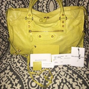 Balenciaga Arena Giant 12 City Yellow Bag