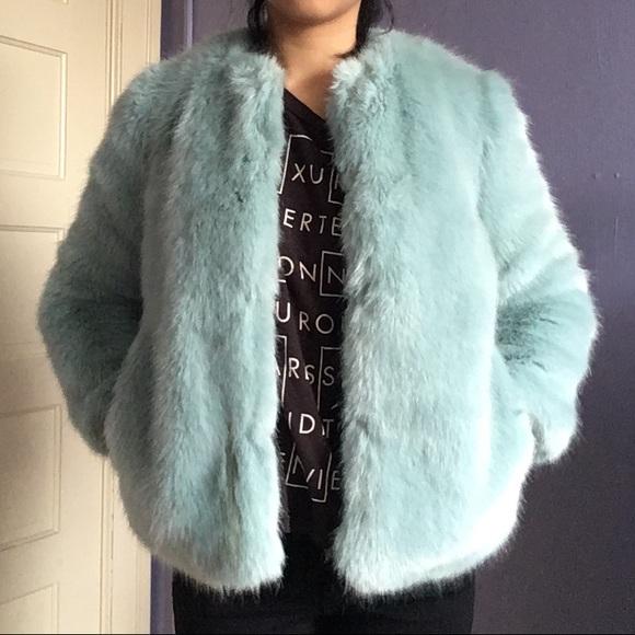 Zara mint green coat