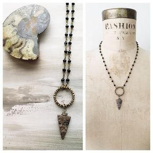 🆕 jasper arrowhead boho necklace (last one)