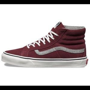 e846f57f517b35 Vans Shoes - Vans Sk8-HI Slim Vintage Suede Red Mahogany