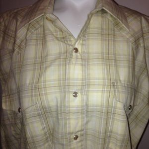 Other - Light yellow Cowboy rockabilly shirt