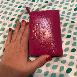Kate Spade small Wellesley pink wallet