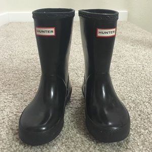 Hunter Boots Other - Kids Black Hunter Rain Boots