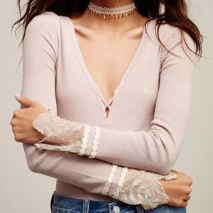 NWT XS, S & M Free People Last Dance Thermal Top