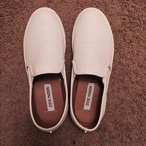 White Steve Madden sneakers