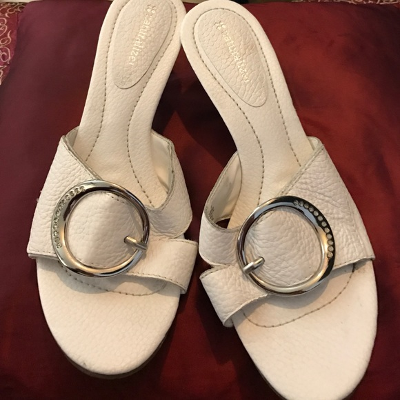 Naturalizer white dress sandals