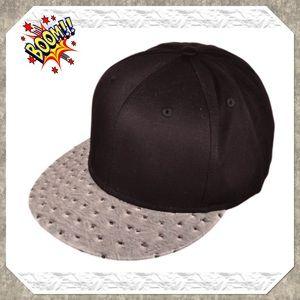 Faux Ostrich Skin SnapBack Hat