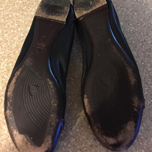 Agl Shoes   Agl Camel Black Pointed Toe Flats 39   Poshmark