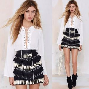 Nasty Gal Tops - Nasty Gal lace up blouse