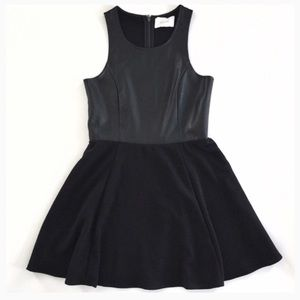 Jaye.e Dresses & Skirts - Jaye.e faux leather black sleeveless skater dress