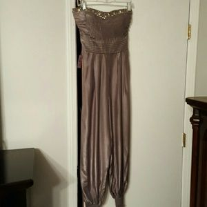 Poetry Clothing Pants - NWT Silver jumpsuit