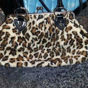 Lux de ville leapard handbag