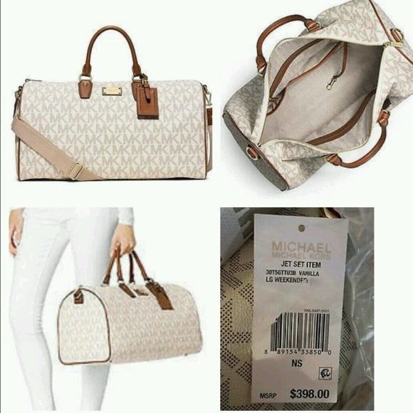 5e0bc301eaf382 Michael Kors jet set large weekend duffle bag. M_584eb1f27f0a05d55b03764f