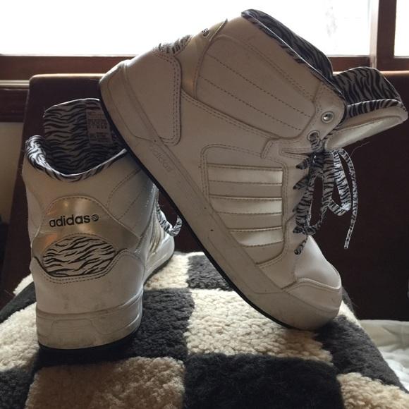 le adidas adidias neo - etichetta raleigh medio alte zebra poshmark