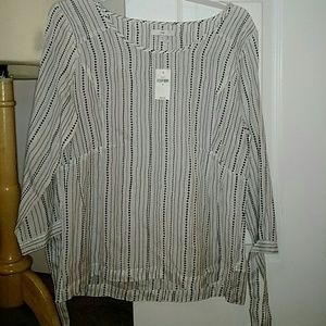 Gap striped and polka dotted blouse.