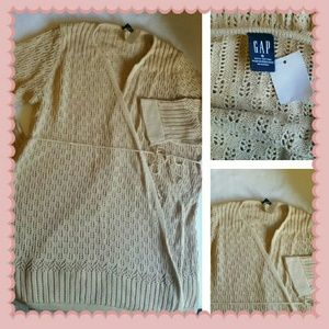 S GAP MATERNITY long wrap sweater top