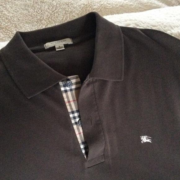 945ac7feb Burberry Shirts | Authentic Brown Long Sleeves Polo Shirt | Poshmark