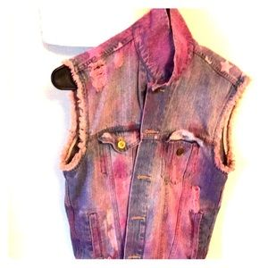Pink Dyed Denim Jacket