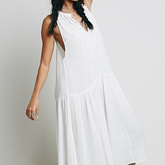 e4a6a7fdfc2 Free People Dresses   Skirts - Sale!NWOT Free People White Embroidered Maxi  Dread