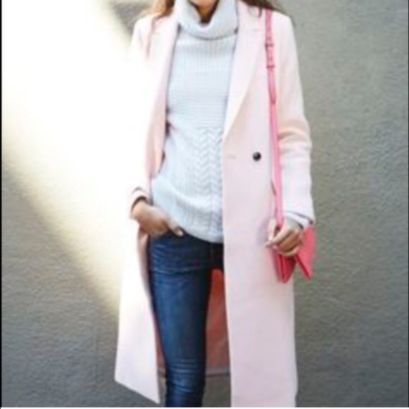 Banana Republic - Banana Republic Blush Pink Wool Coat from ...