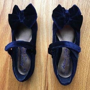 Next Other - Next, kids size 7, navy blue velvet