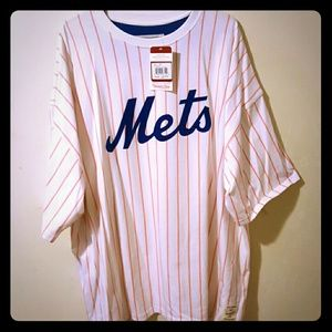 Mitchell & Ness Other - MENS METS Pin Striped Shirt NEW